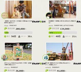 インターネットで地域活動の資金を募るFAAVOのサイト