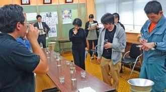 新しい黒麹菌で作った泡盛の試飲会(トロピカルテクノプラス提供)