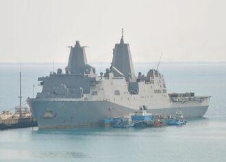 3月に寄港した米海軍のドック型輸送揚陸艦「ニューオーリンズ」
