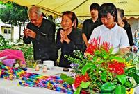 宮森小の惨劇を悼み慰霊祭 米軍機墜落から59年