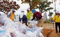 NAHAマラソン熱走、翌日は清掃 ボランティア250人が汗