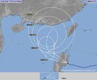 台風26号が不穏な動き 南シナ海で方向転換か