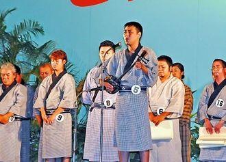 最優秀賞に選ばれた比屋根祐さん=新栄公園