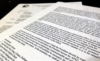 米政府内で1996年に在沖米海兵隊のグアム移転が協議されていたことを記した米政府内部文書