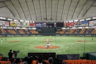 史上初の無観客試合で開催されたプロ野球巨人―阪神戦=6月19日、東京ドーム