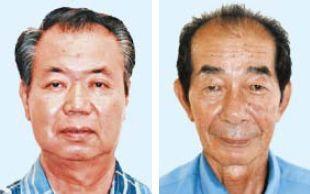 (左から)川満栄長氏、西大舛高旬氏