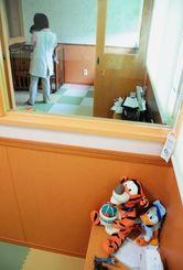 南風原町が利用料を一部負担する町津嘉山の「わんぱくクリニック」の病児・病後児保育室=3月31日、同所