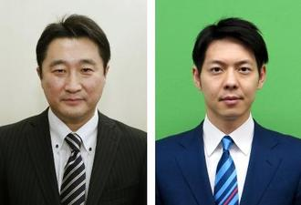 石川知裕氏(左)、鈴木直道氏