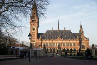 オランダ・ハーグの国際司法裁判所(AP=共同)