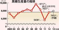 13年産県内黒糖7953トン 前年比4.3%増