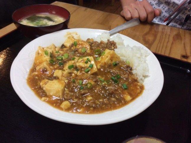 麻婆豆腐(750円)です