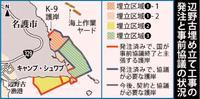 辺野古新基地:国、本格工事へ着々 20日にも護岸着手