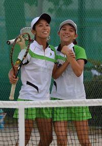 リュー・西里組が決勝進出 近畿総体テニス リューは2冠に王手
