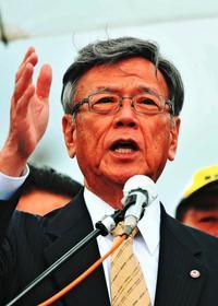翁長知事、県民集会で承認撤回を明言 辺野古埋め立て阻止へ