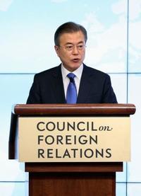 金正恩氏は非核化本気と文大統領 米の報復を警戒、NYで演説