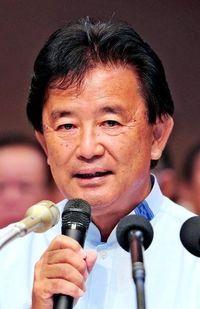 参院選:伊波洋一氏が政策発表 普天間放置を批判