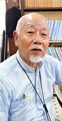 沖縄弁護士会の地位協定改正案の意義を語る、新垣勉弁護士=沖縄市・コザ法律事務所