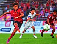<FC琉球>6年間勝てなかった難敵からの勝利 PKで決勝点