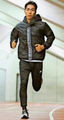 ロンドンマラソンに向け調整する濱崎達規。2時間13分以内を目標にする=黄金森公園陸上競技場(我喜屋あかね撮影)