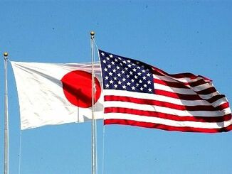 日の丸と星条旗