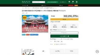 3億円を突破した首里城再建支援のための寄付募集の公式サイト