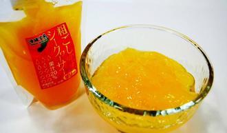 沖縄物産企業連合が発売した「粗ごし完熟シークヮーサーゼリー」(同社提供)