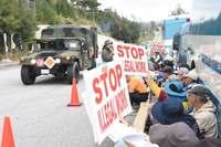 辺野古新基地:資材搬入の動きなし 市民の抗議続く