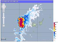 与那国島地方で50年に一度の記録的な大雨 3時間で270ミリ 観測史上最大