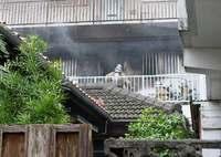 「ストーブから火が出た」住人が通報 那覇市久米でアパート火災、けが人なし