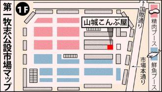 (写図説明)第一牧志公設市場マップ
