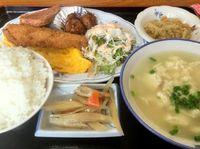 豊見城市のやまちゃん食堂で日替わり定食(ゆし豆腐)を食べたの巻 運転手メシ(222)