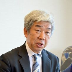 吉本興業の大崎洋社長(2014年10月撮影)