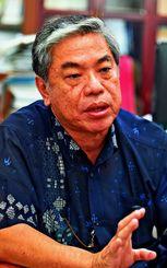 「従業員教育もするので、本来、組合があったほうが企業は伸びる」と語った連合沖縄の大城紀夫会長