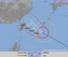 10日午前5時現在の台風8号の進路予想図(気象庁HPから)