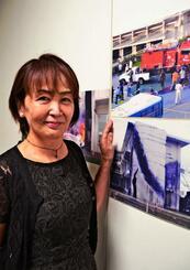 今年も13日から写真展「私の見た壁」を那覇市民ギャラリーで開く新川美千代さん=6日、那覇市・パレットくもじ6階の同ギャラリー