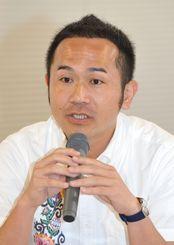 花城正樹民進党県連代表(2016年7月撮影)