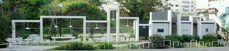 グッドデザイン賞を受賞した「緑ケ丘公園エントランススペース公衆便所」