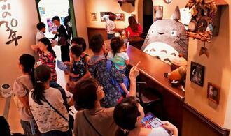 来場者でにぎわう「ジブリの大博覧会」=6日、那覇市の県立博物館・美術館(c)Studio Ghibli(下地広也撮影)