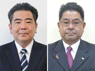 (左から)仲里司氏、照屋勉氏