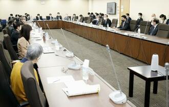 デジタル庁の組織と役割の骨格を決定した作業部会=26日午後、東京・霞が関