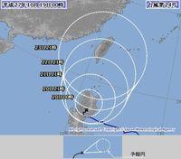 台風24号北上へ 22日ごろ沖縄・先島諸島に接近か
