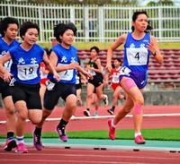 仲愛琳、中学女子1500連覇 タイムス杯長距離フェスティバル