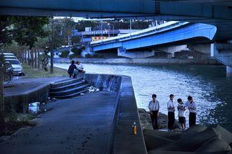 中学のときによく来た宇地泊の入江(2010年、写真・石川竜一)