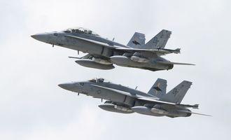 FA18戦闘攻撃機(資料写真)