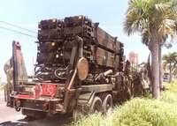 PAC3積んだ米軍車両に不具合 実弾を装着 沖縄の国道渋滞、白煙目撃も