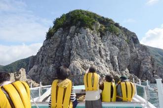 日本ジオパークに認定された「萩」のモドロ岬(萩ジオパーク構想推進協議会提供)
