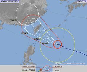 台風13号(6日18時現在、気象庁HPから)