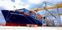 APL社8万トン貨物船、那覇に初寄港 沖縄-米国間を14日で輸送