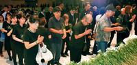 大田元知事県民葬:平和の理念、次世代に 翁長知事「万感胸に迫る」
