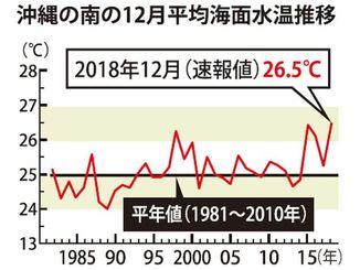 沖縄の南の12月平均海面水温推移